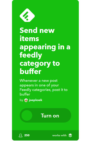 """Feedly Applet for Buffer """"width ="""" 389 """"height ="""" 600 """"/> </p> <p> <img class="""